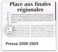 Presse 2008-2009
